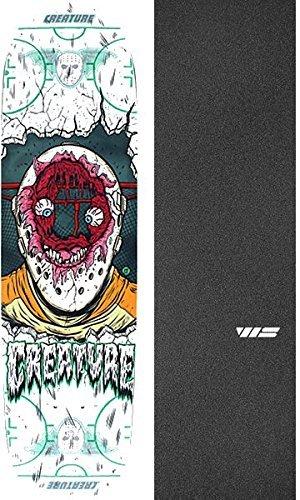 歩行者呼吸パーセントCreature Skateboards Slapshot SM Everslickスケートボードデッキ – 8.2