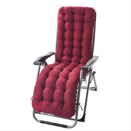 AINIYUE Cojines para tumbonas, Cojines para Muebles de jardín, Cojín para sillón, Cojín para Silla de jardín portátil, (sin Silla) El 125x48x8cm Vino Rojo: Amazon.es: Hogar