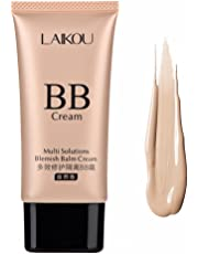 BB Cream Hydrating Moisturiser Concealer Foundation Cover Up Freckle Skin Spots Natural Moisturizing Breathable Facial Isolation Lotion(Natural)