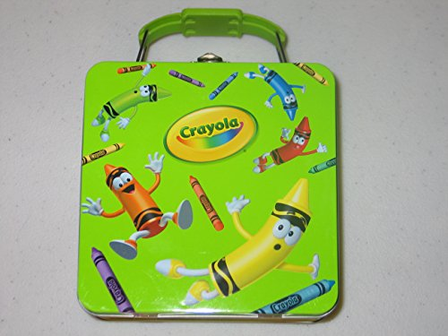 Crayola Tin Tote with Buckle Handle Crayons on Lunch Box …