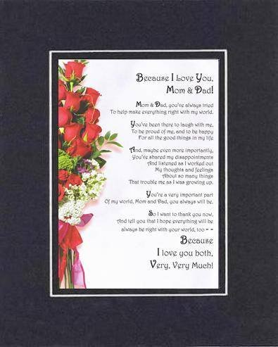 Tocar y corazón poema para padres - Because I love you, mamá y papá ...