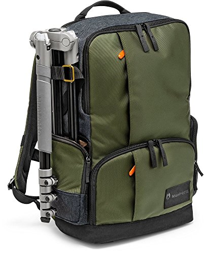 Manfrotto MB MS-BP-IGR Medium Backpack for DSLR Camera & Personal Gear (Green) (Best Camera Bag Street Photography)
