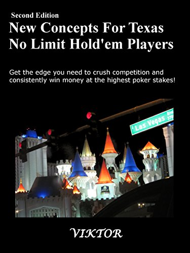 New Concepts For Texas No Limit Hold'em Players Pdf