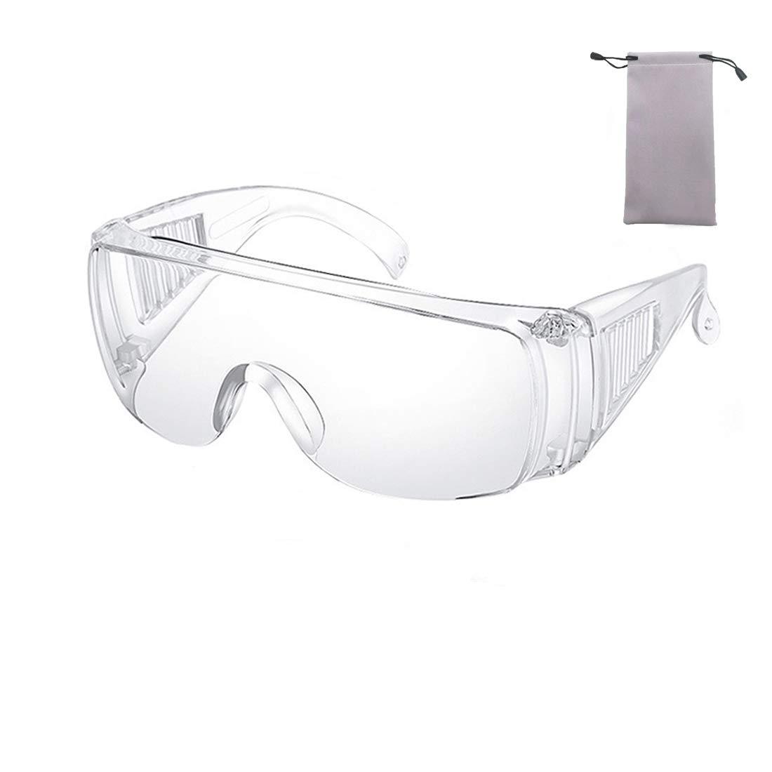 Claro Seguridad Lentes Personal Protector Equipo Transparente Gafas Protección UV Proteccion Adulto Terminado Lentes para Construcción, Laboratorio, Química Clase