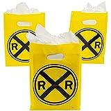 Fun Express Plastic Railroad Treat Bags, 12 Piece