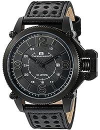 Men's OC4113 Scorpion Analog Display Quartz Black Watch