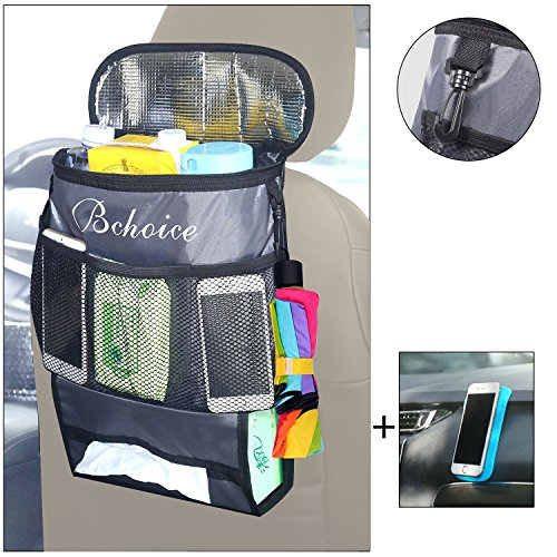 Lowest Prices! Car Organizer Back Seat, Bchoice Multi-Pocket with Big Storage Bag, Baby Bag Great Ca...