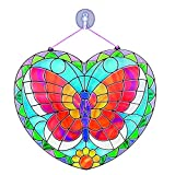 "Melissa & Doug Stained Glass Made Easy Activity Kit, Arts and Crafts, Develops Problem Solving Skills, Butterfly, 140+ Stickers, 10.5"" H x 10"" W x 0.25"" L"