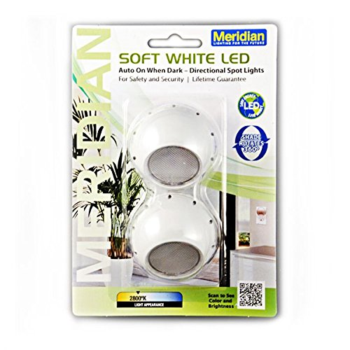(Meridian Electric 10235 LED Auto on When Dark Directional Spot Lights, (Pack of 2))