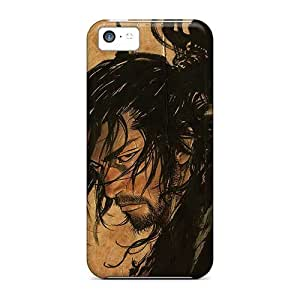 LJF phone case Top Quality Case Cover For Iphone 5c Case With Nice Crazy Man Hair Appearance