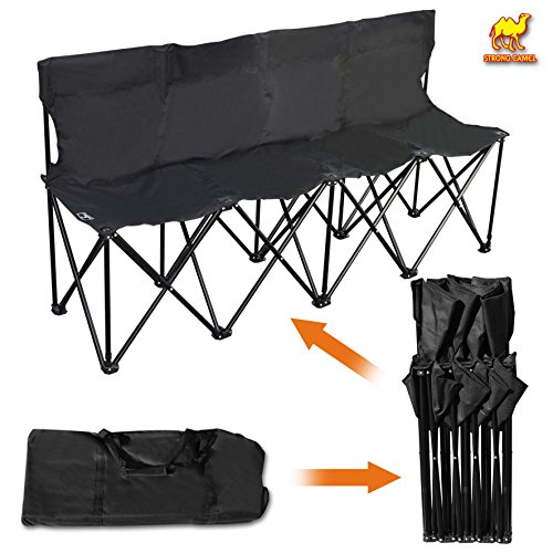 Strong Camel Folding Portable Team Sports Sideline Bench 4 Seater Outdoor Waterproof (4 Seater Bench)