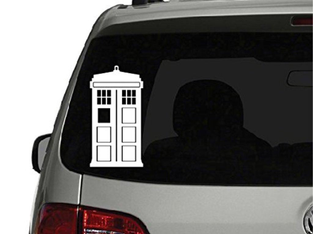 Doctor Who Tardis Car Window Vinyl Aufkleber Decal Hintergrund//Ma/ße in inch Sticker 5 Tall SUPERSTICKI/® CCI CCI080