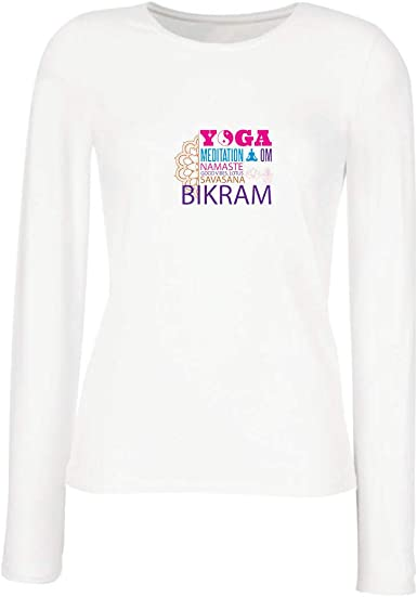 lepni.me Camisetas sin Mangas para Mujer Yoga Meditation Om Good Vibes Lotus Savasana Bikram