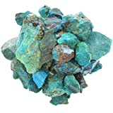 Digging Dolls: 1 lb of Chrysocolla Stones from Peru - Raw & Natural Rough Rocks - Perfect for Tumbling, Wire Wrapping, Polishing, Jewelry Making and Crafts!