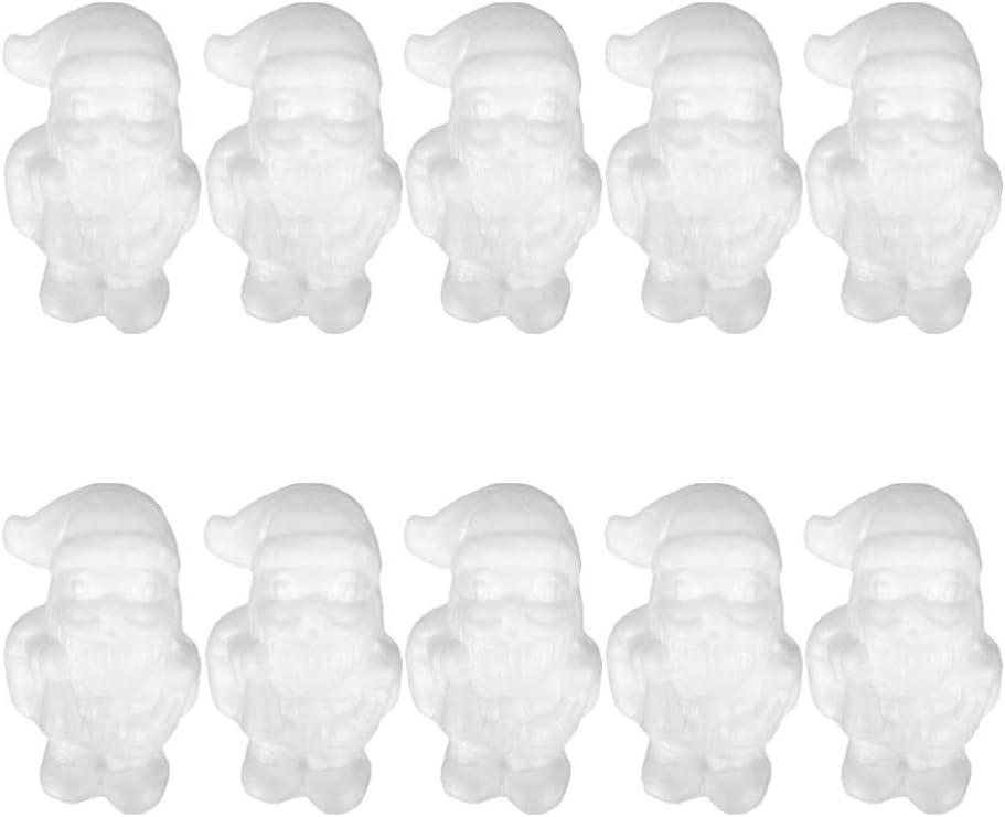 Amosfun 10 st/ücke Handwerk styropor weihnachtsmann Ornamente polystyrol Formen f/ür DIY Handwerk weihnachtsschmuck Weihnachtsfeier bevorzugt Geschenke