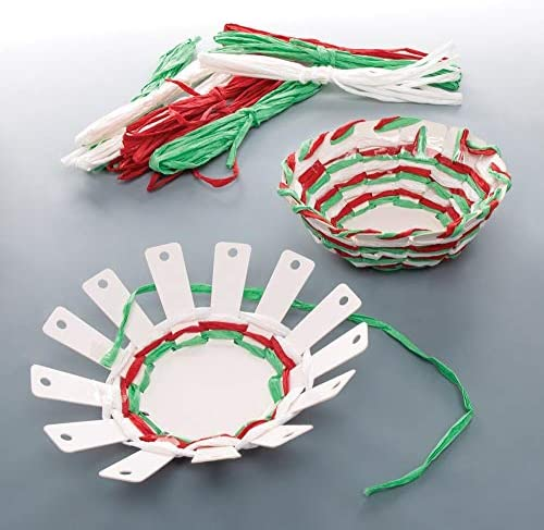 Baker Ross Christmas Basket Weaving Kits Festive Arts and Crafts (Pack of 4)