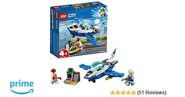 LEGO City Sky Police Jet Patrol 60206 Building Kit, 2019 (54 Pieces)