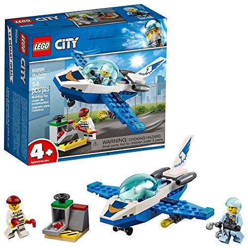 LEGO City Sky Police Jet Patrol 60206 Building Kit , New 2019 (54 Piece)