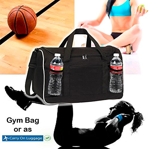 BuyAgain Duffle Bag, 17'' Small Travel Carry On Sport Duffel Gym Bag. by BuyAgain (Image #1)