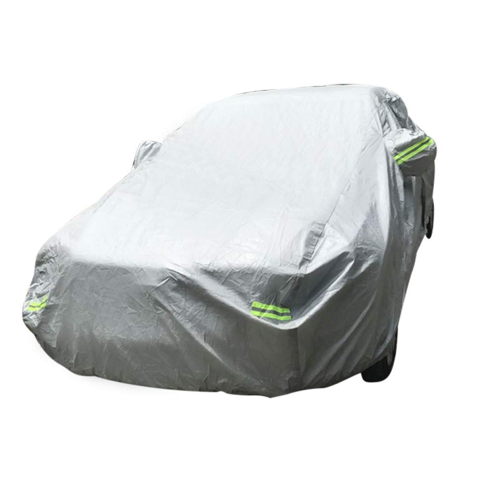 Outdoor Car Cover - Scratch Resistant/Waterproof/Windproof/Dustproof/Outdoor UVproof/Snowproof All Weather Car Cotton Protective Covers (Silvery Grey, 212.6''L x 68.9''W x 47.3'' H) by Dacawin-Outdoor Accessories