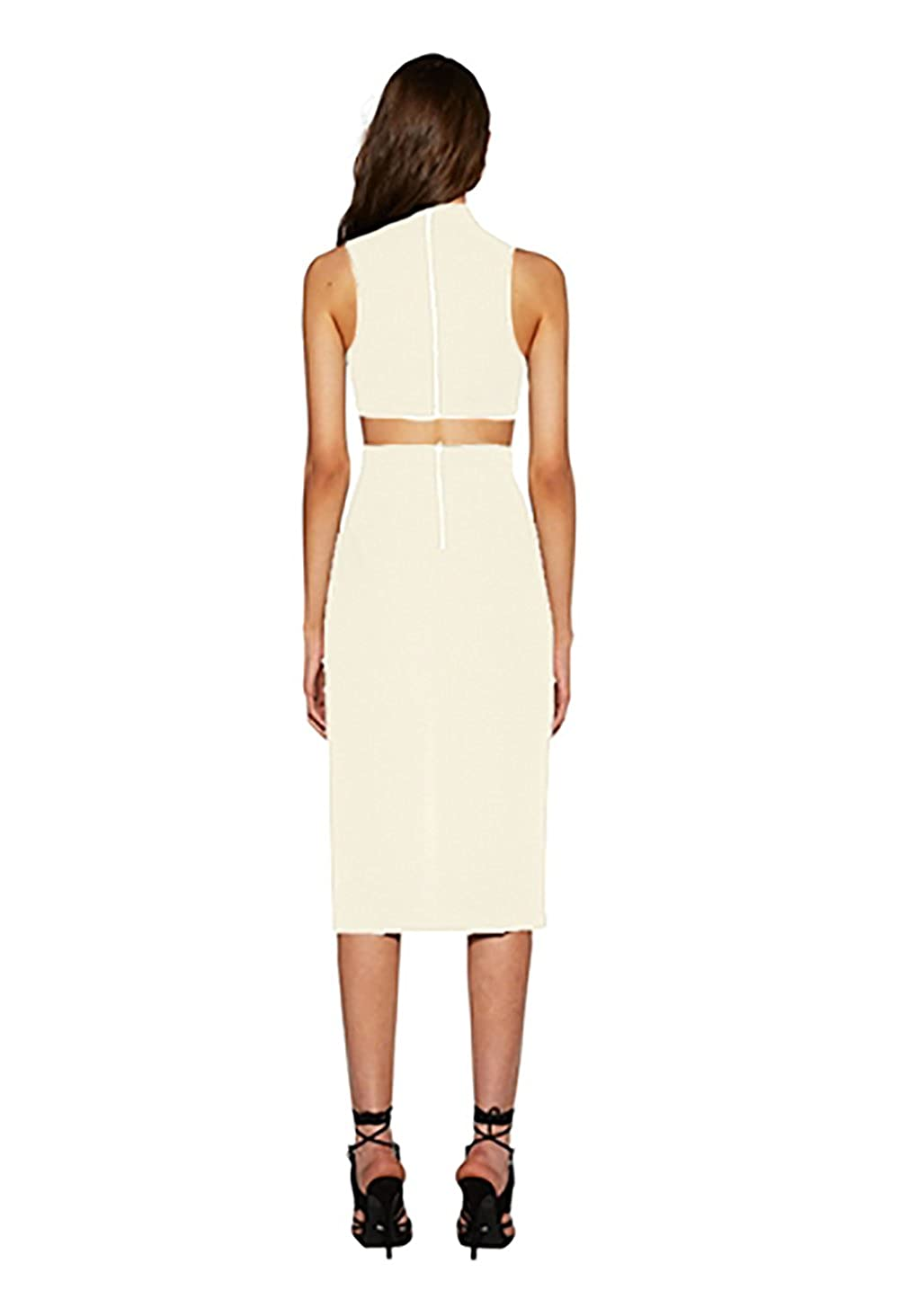 Bec   Bridge Phoenix Plunge Dress in White (8) at Amazon Women s Clothing  store  6bf938e0d
