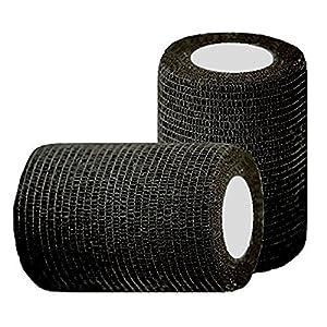 10cm4.5m Black Flexible Athletic Bandage Elastic Cohesive Sport Wrap Tape