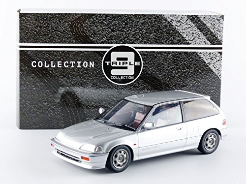 Triple 9 T9 - 1800100 - Honda Civic EF-3 si - 1987 - Escala 1/18 - Plata: Amazon.es: Juguetes y juegos