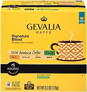 Gevalia Signature Blend DECAF K-Cup Packs - 18 count