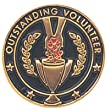 Outstanding Volunteer Lapel Pin - Pack of 12