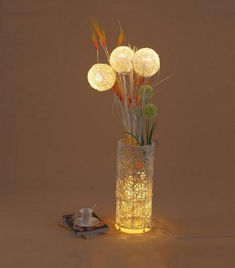 LFFLUODIDENG HJHY® Lámpara de pie de leña Estudio de Sala de ...