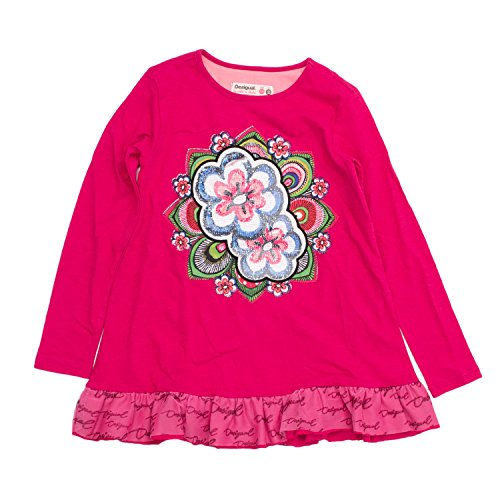 shirt Chilayo Fuchsia T Ts 18wgtka6 Desigual Longues Manches Fille 5OnwqY