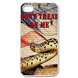 Don't Tread On Me ZLB520826 Unique Design Phone Case for Iphone 4,4S, Iphone 4,4S Case