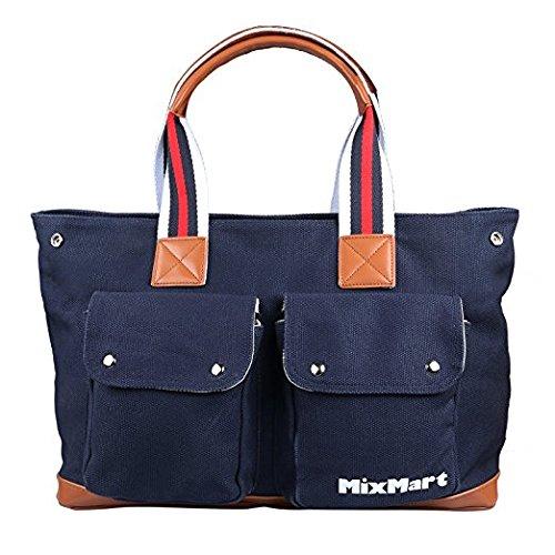 Bolsa de Pañales de nino,Mixmart bolsa de panal con colchon y cinta-azul de nave: Amazon.es: Bebé