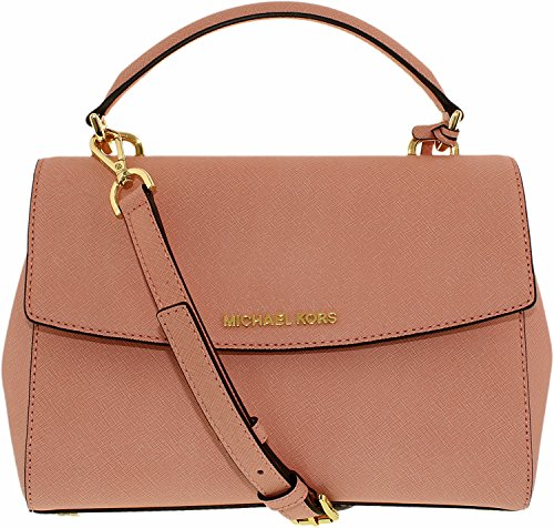 Michael Kors Ava Small Leather Top Handle Satchel Pale Pink/Gold