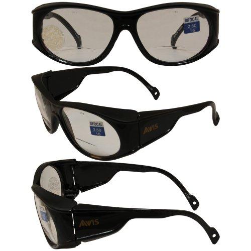 avis-blackhawk-bifocal-safety-glasses-black-frame-25x-magnification-clear-lenses-ansi-z871