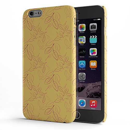 Koveru Back Cover Case for Apple iPhone 6 Plus - Boy in cold Yellow leaf Floral