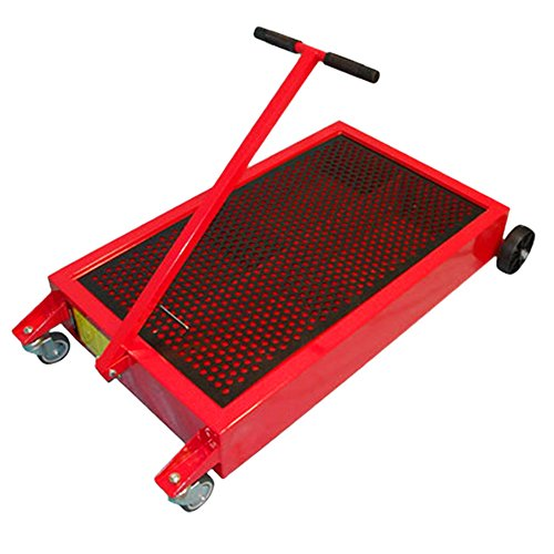 Mobile 15 Gallon Oil Drain Pan Cart Truck Handle Carry