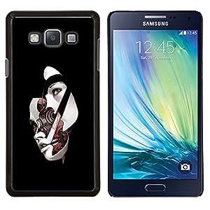 YiPhone /// Prima de resorte delgada de la cubierta del caso de Shell Armor - Máscara facial Mujer Ai Tecnología Arte Futuro - Samsung Galaxy A7 A7000