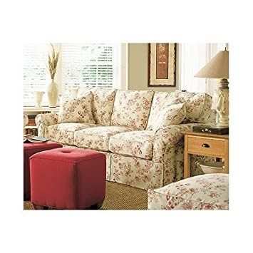 Rowe Furniture A91X Rowe Basics Nantucket Slipcovered Queen Sleeper Sofa