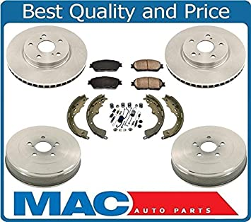 with 2 Years Manufacturer Warranty 2003 For Kia Sedona Rear Drum Brake Shoes Set Both Left and Right