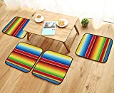 UHOO2018 Modern Chair Cushions Mexican Serape Blanket Vector Convenient Safety and Hygiene W23.5 x L23.5/4PCS Set