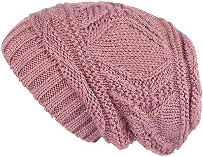 0587c6cc7550a Ofocam Unisex Slouchy Winter Hats Knitted Beanie Caps Men Women Soft ...