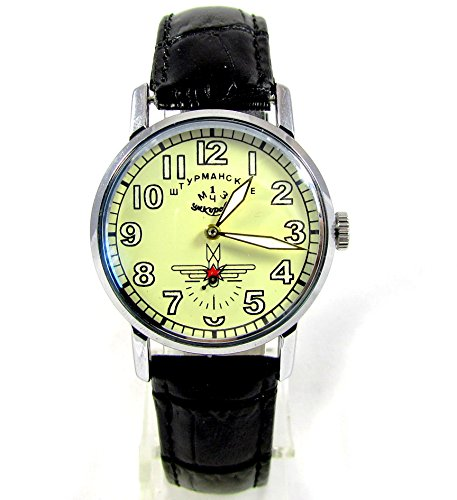 Pobeda Shturmanskie Gagarin mens wrist watch Vintage USSR RARE Serviced & oiled (Rare Watches Vintage)