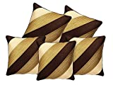 Czar Home Diagonal Striped Quilted Cushion Cover 16' x 16'(set of 5)