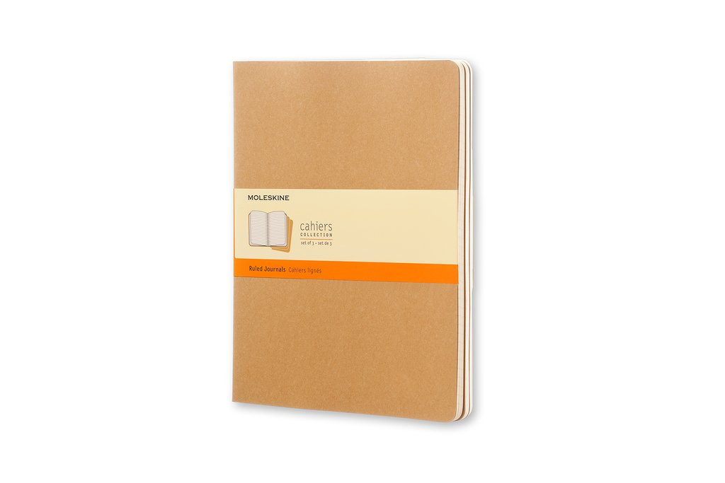 Moleskine XLarge Ruled Cahier Journal, Set of 3