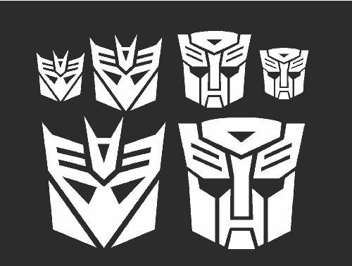 Transformers Autobot & Deceptacons Stickers White combo set -