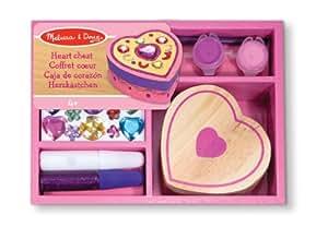 Melissa & Doug 13094 - Decora a tu gusto: caja de corazón, de madera