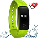 wonlex Fitness Tracker with Heart Rate Monitor,IP67 Waterproof Sports Pedometer Activity Tracker Smart Bracelet Watch for Women Men and Kids (Green)