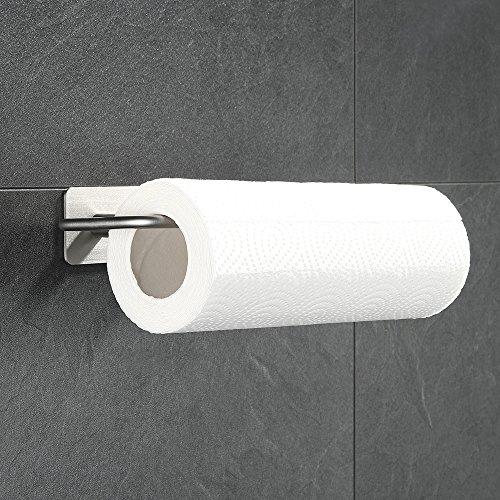 (Blusea Wall Mount Horizontal Paper Towel Holder Kitchen Paper Towel Rack Dispenser Rack for Tissue Roll)