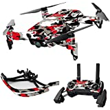 MightySkins Skin For DJI Max Coverage - Red Camo | Protective, Durable, and Unique Vinyl Decal wrap cover | Easy To Apply, Remove, and Change Styles | Made in the USA